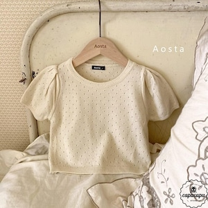 «sold out» Aosta balloon knit top 3colors サマーニットトップス