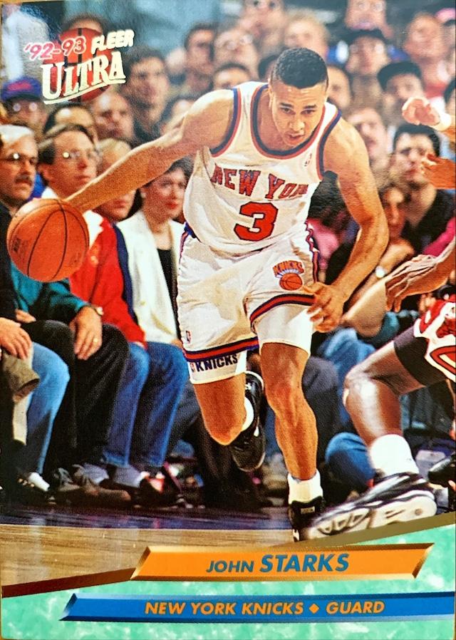 NBAカード 92-93FLEER John Starks #127 KNICKS