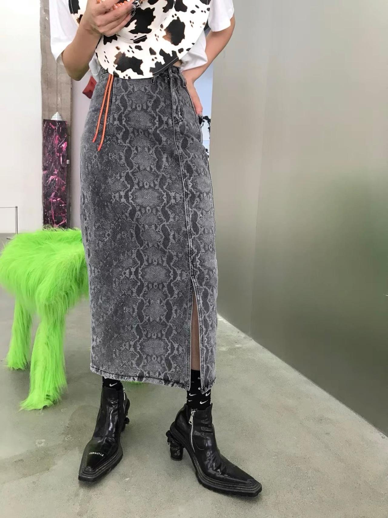 snake long skirt