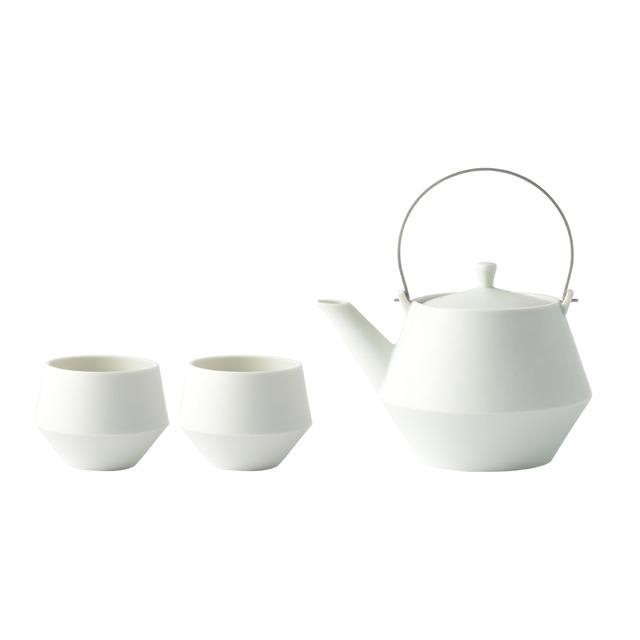 『Frustum』 『急須セット』 『白釉』 『ステンレスツル』 *急須 煎茶 贈り物 ギフト プレゼント おしゃれ