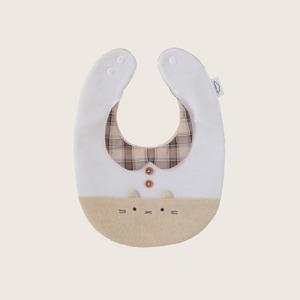 【販売終了】つみきどうぶつのおめかしbib(コーヒー牛乳)