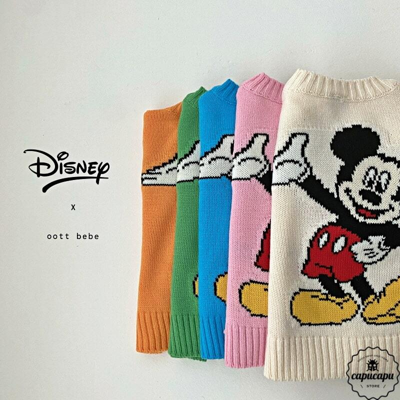 «sold out» mickey knit cardigan 5colors ミッキーマウス ニット カーディガン