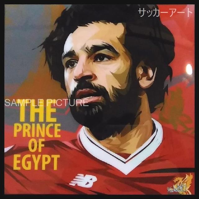 サッカーグラフィックアートパネル モハメド・サラー リバプールFC 木製 壁掛け ポスター (001-170)