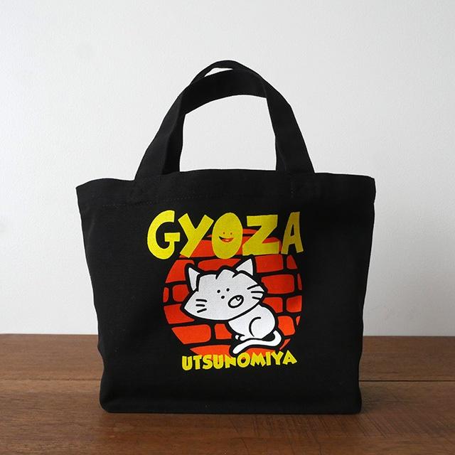 キャンバスミニトートバッグ GYOZA猫