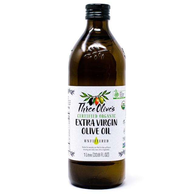 オーガニック エキストラバージン オリーブオイル 1000ml Certified Organic Extra Virgin Olive Oil