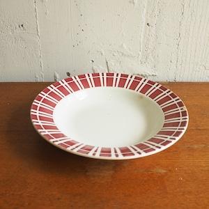 Digoin Sarreguemines(ディゴワン・サルグミンヌ)のストライプデザインのスープ皿