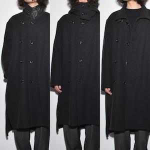 "All Matching - Wool Coat ""3way"" 〈Charcoal Black〉"