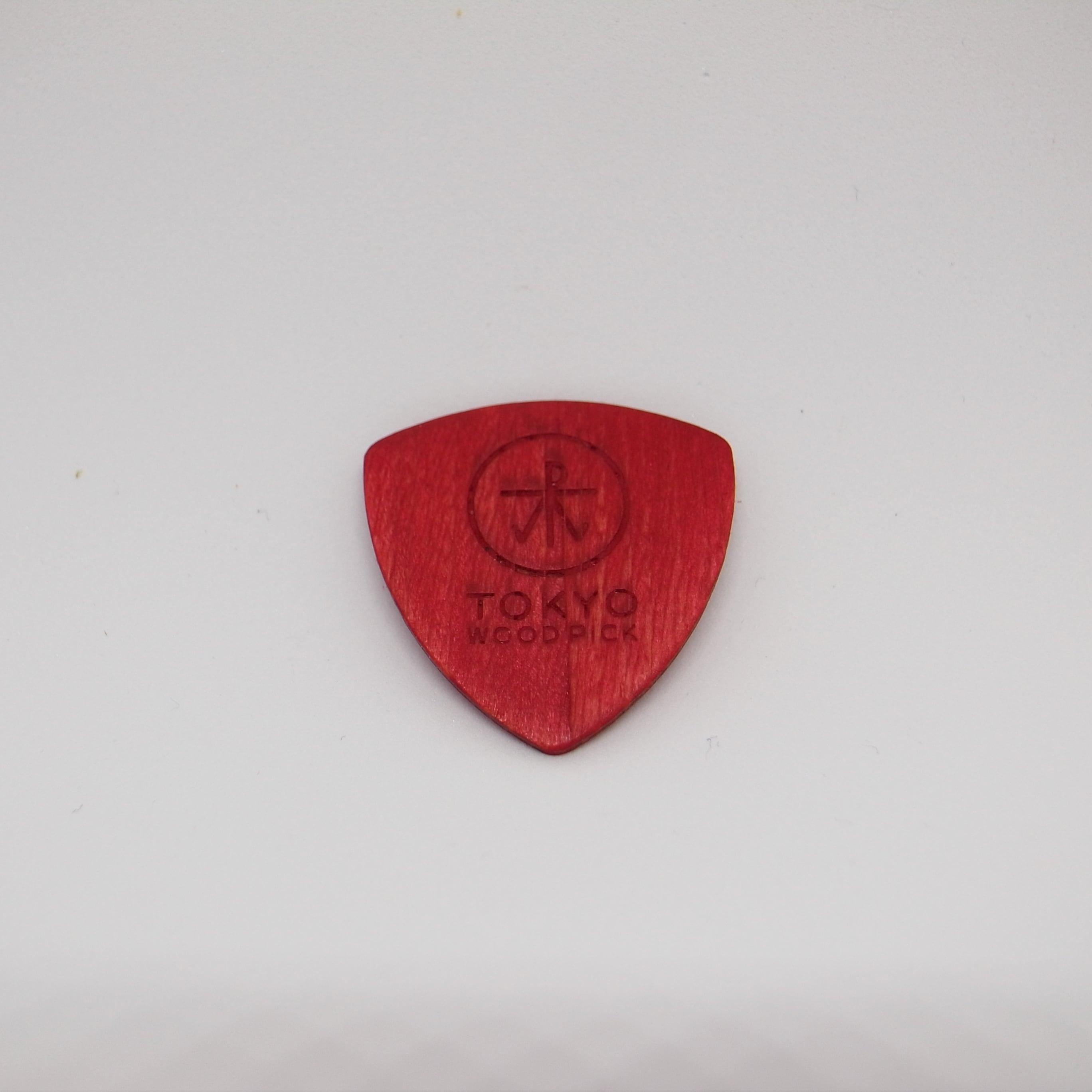 Triangle型   ギターピック TOKYO WOOD PICK Red