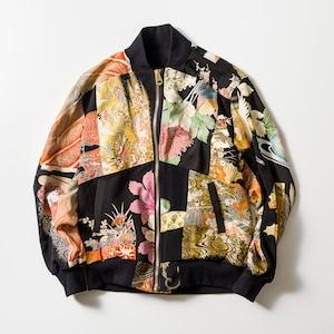 再構築 黒留袖 着物ジャケットKIMONO BOMBER JACKET kimonobomberjk02