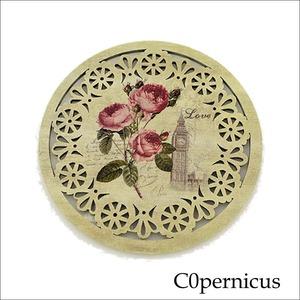 バラコースター単品(B)薔薇雑貨:浜松雑貨屋 C0pernicus