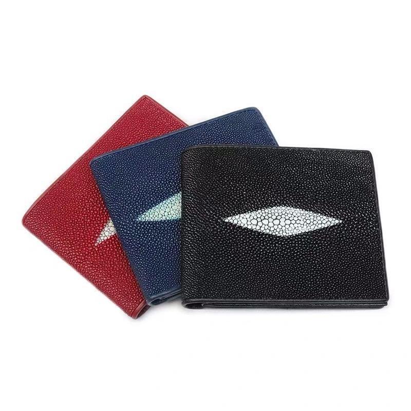 【エイ革財布】レディース  二つ折り財布 スティングレイ【金運アップ】