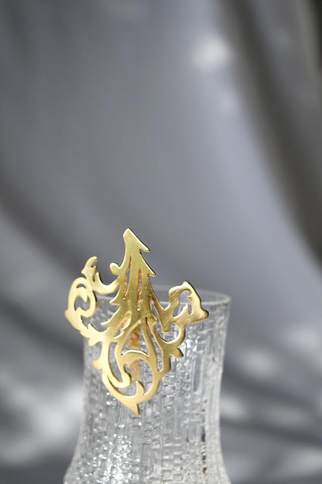 Handcrafted Hair Hook arabesque -Veins- ヘアフック - べインズ - Gold