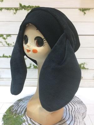 NIGATSU うさみみ帽 ブラック