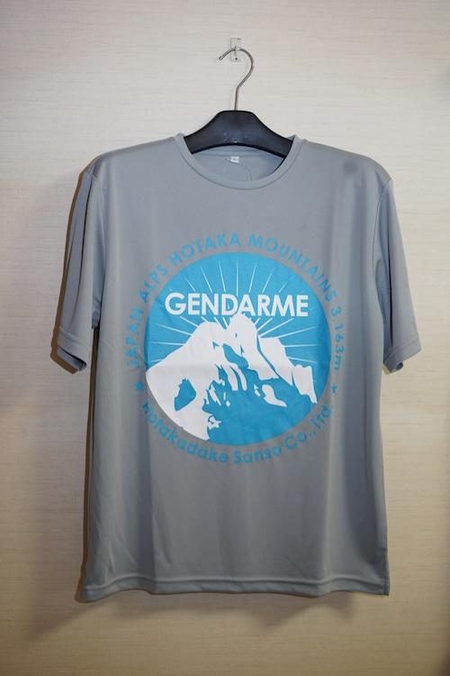【NEWジャンダルム】Tシャツ(グレー×水色)