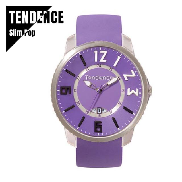 TENDENCE テンデンス Slim Pop スリムポップ TG131002 パープル 腕時計 レディース メンズ