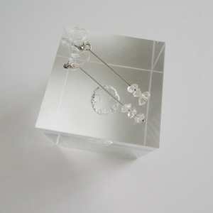 E_005 /P005 ハーキマーダイアモンドのノンホールピアス(イヤリング)、ピアス