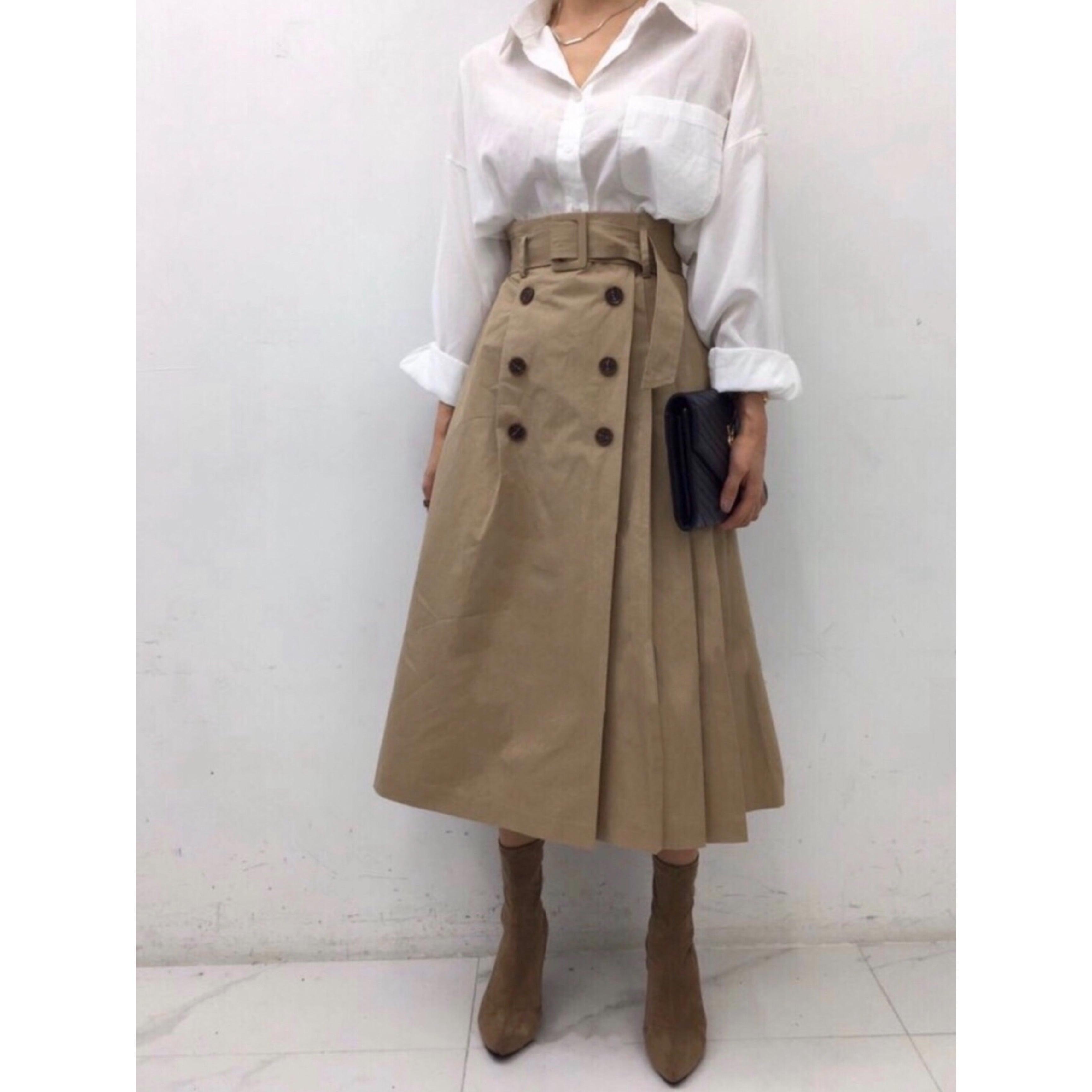 【即納】トレンチスカート
