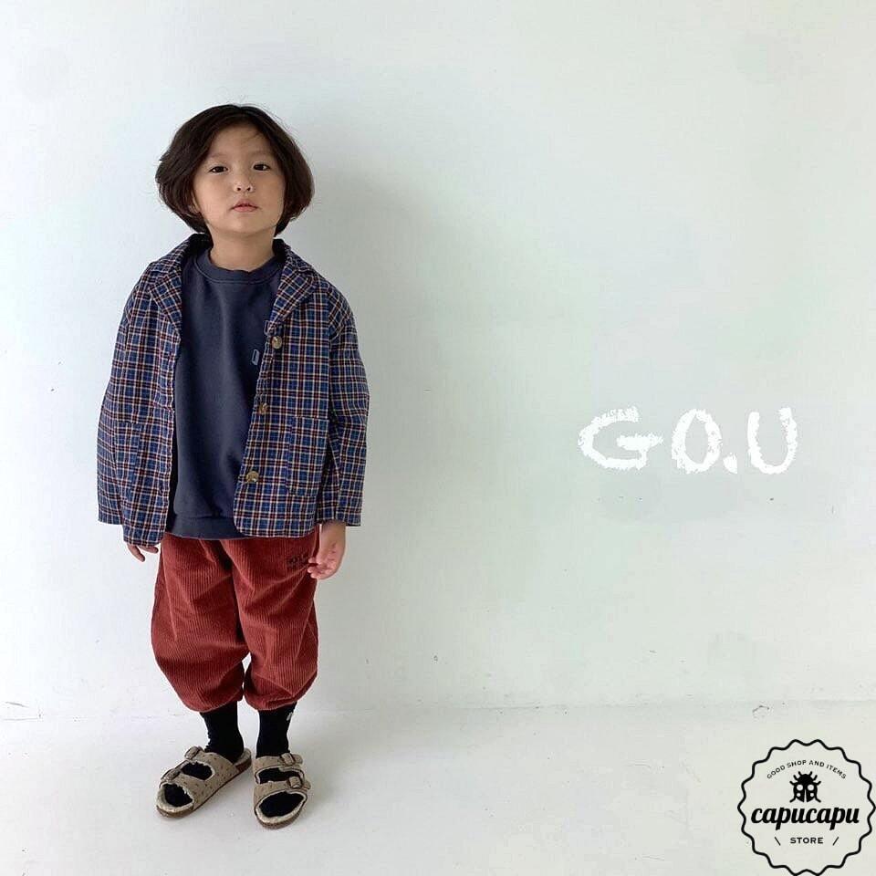 «sold out» go.u corduroy jogger pants 2colors コーデュロイパンツ