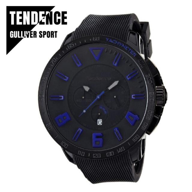 TENDENCE テンデンス GULLIVER SPORT ガリバー スポーツ TT560004 ブラック×ブルー 腕時計 レディース メンズ