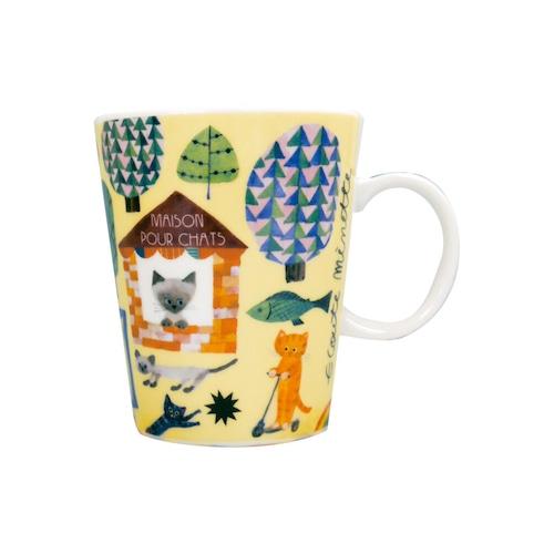 猫マグカップ(エクートミネットスマートマグ)コラージュ