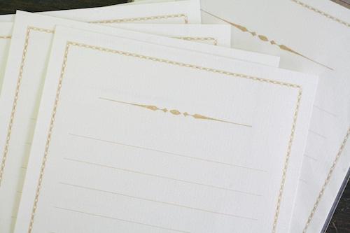 装飾罫線Mini Stationery Paper all Antique-52- 【キャメル】