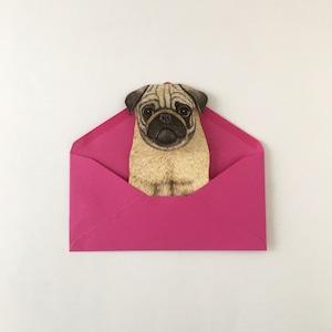 """動物の立体カード「犬」 Animal Folding Card """"Dog"""""""
