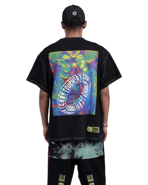 THERMOGRAPHY OVERSIZED  S/S TEE - BLACK/GREEN