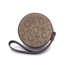 CELINE セリーヌ Cマカダム サークル ハンドポーチ コインケース ウォレット グレー オールドセリーヌ vintage ヴィンテージ Accessories svdfg4