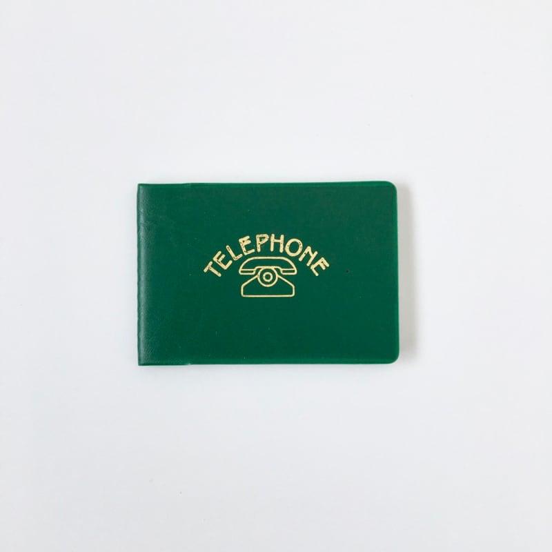 デッドストックの電話帳(濃い緑)