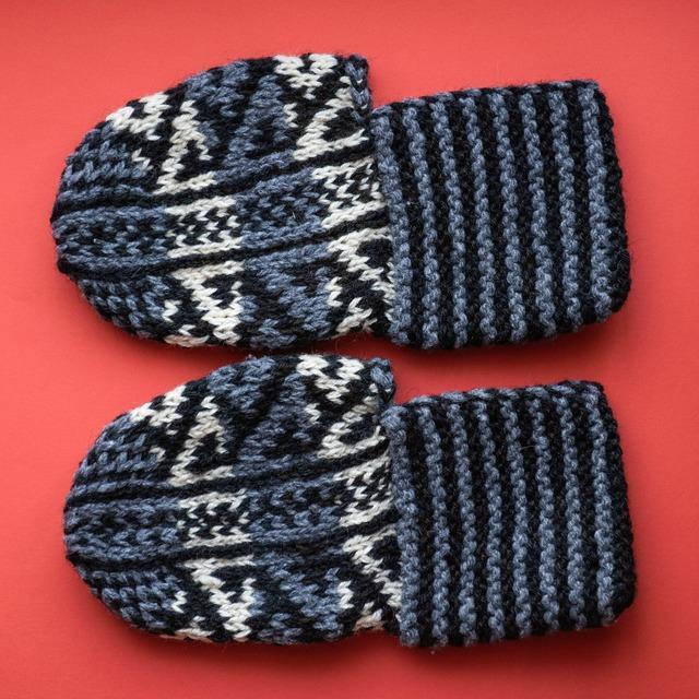 ウズベク靴下:灰色
