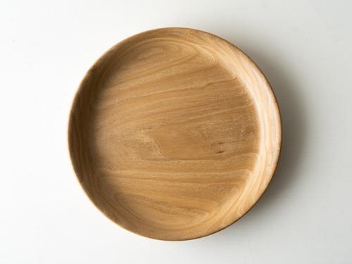【現品限り】栗(くり) 無塗装のお盆 1〜2人用 直径約20.5cm