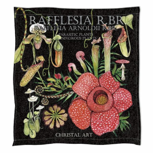 ◆即納◆ラフレシアと食虫植物柄のハンドタオル◆