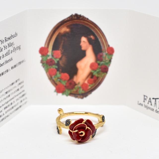 stack ring   Rose skull Ring