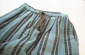 【SALE】striped wide trousers  <green>