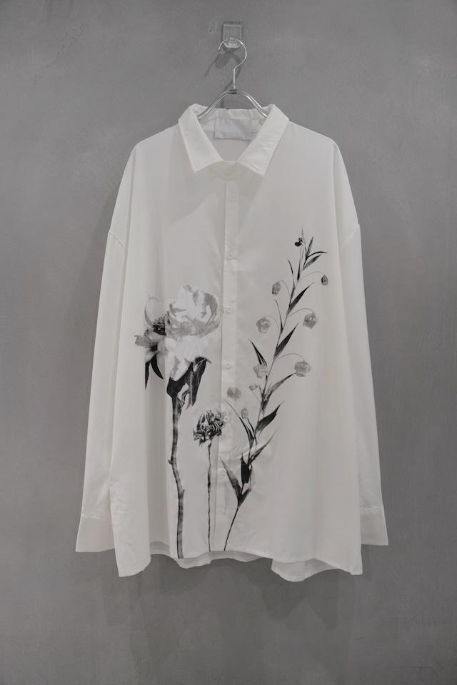 ℃℃℃  art  flower shirt   White