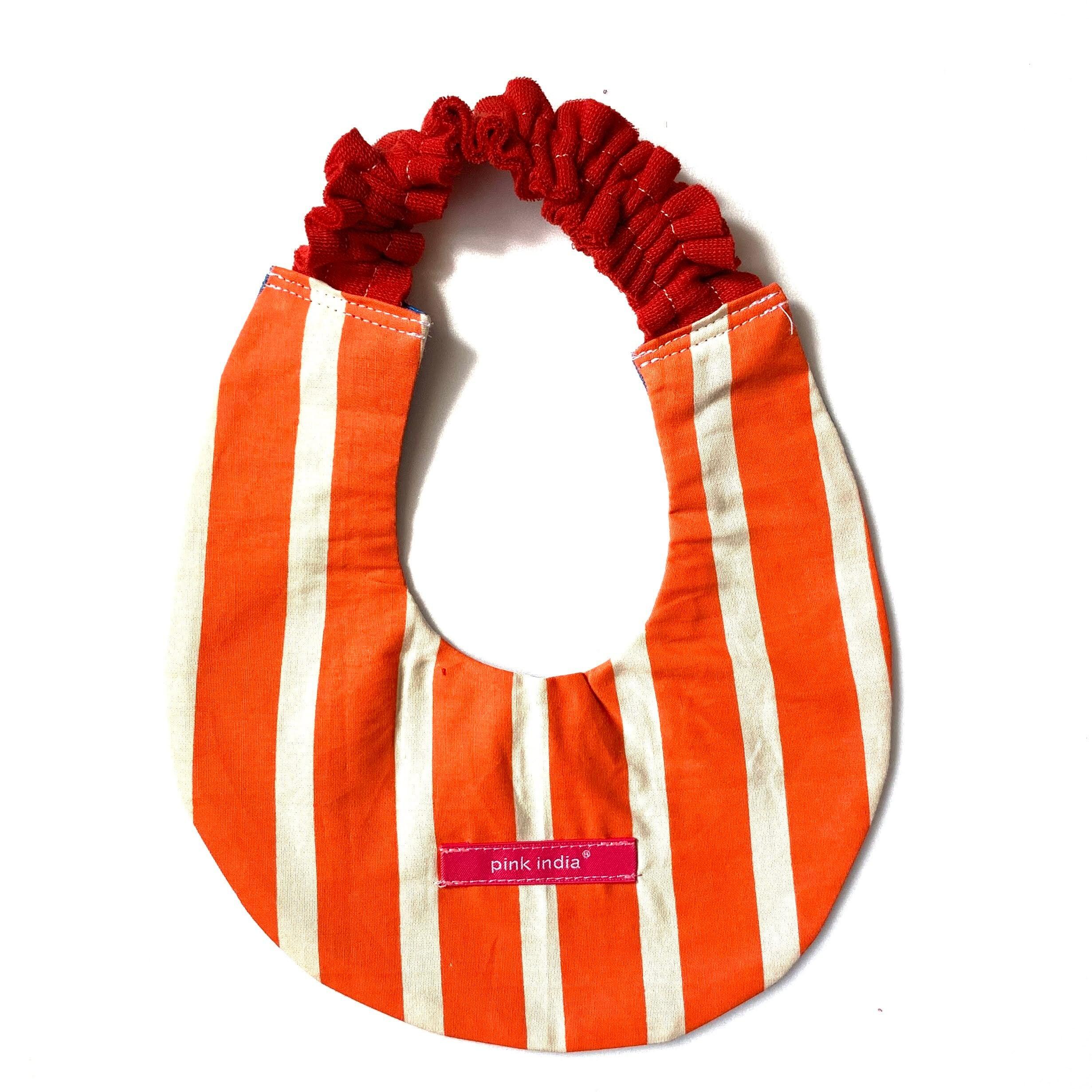北欧デザイン ベビースタイ   orange stripe