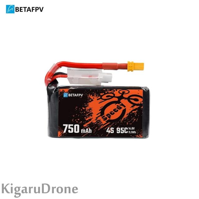 【PAVO30推奨 4S 750mAh 95C Lipo】BetaFPV 750mAh 4S 95C Lipo Battery with XT30 コネクター