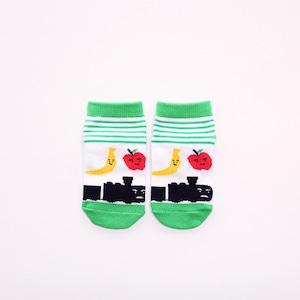 靴下 キッズ/ストライプ【がたんごとんがたんごとん】【絵本のくつした】