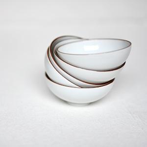 【30992】九谷の白 めし碗 S / Kutani White Rice Bowl S / Showa Era