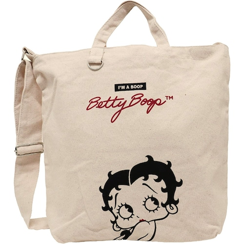【Betty Boop】ベティ・ブープ ショルダートート(ロゴ/CR-52373)