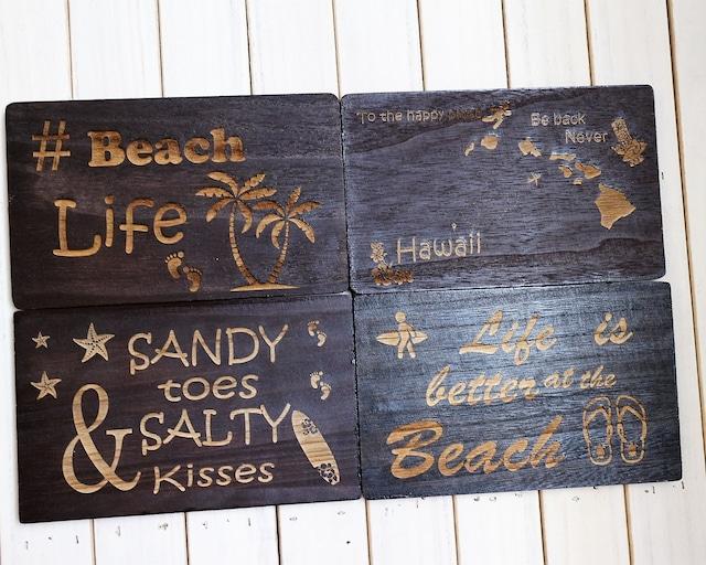 インテリアパネル Beachシリーズ4枚セット ウォールアート 木製 軽量インテリアパネル おしゃれビーチ雑貨 新築祝いプレゼント 引っ越し祝いプレゼント 模様替え