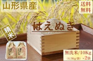 山形県産【はえぬき】精米 乾式無洗米 10Kg/袋【送料無料】
