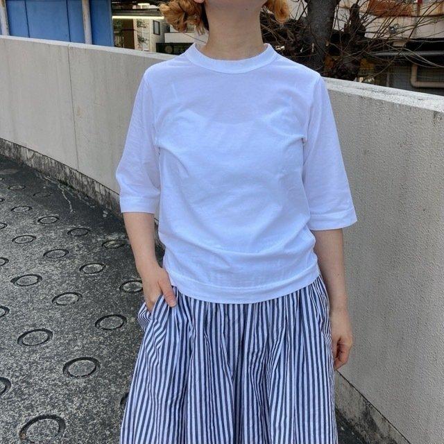 homspun (ホームスパン) 天竺6分袖Tシャツ サラシ