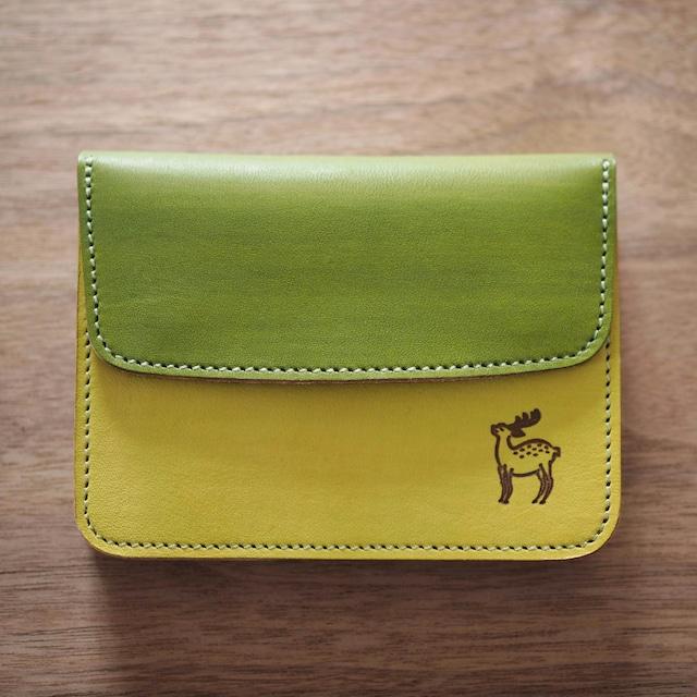 【完売】蛇腹ポケット財布(若草×松葉 / WAKAKUSA x MATSUBA)ミニ財布