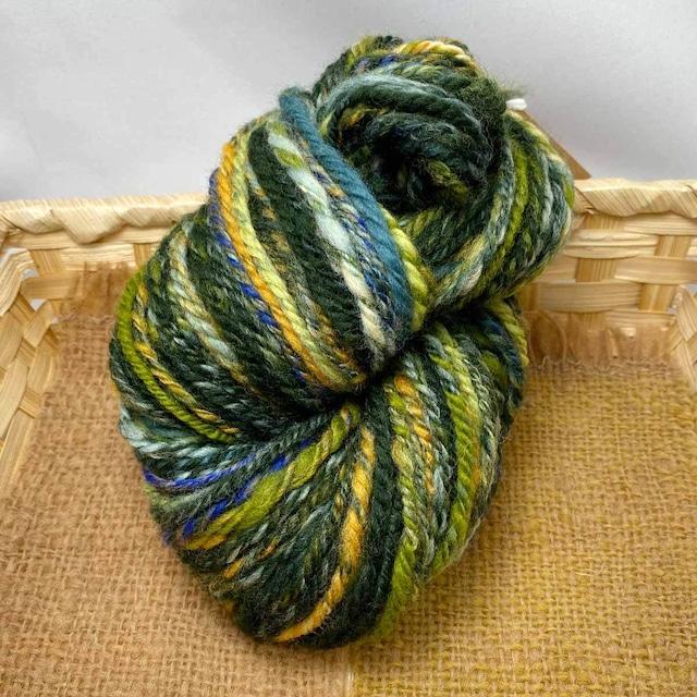 Nn40) いただき森 ナバホ撚り 手紡ぎ毛糸