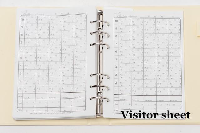 【Visitor sheet(ビジターシート)単品】Club Diary / キャバ嬢 ホステス手帳 クラブダイアリー