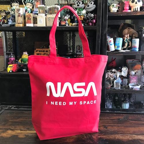 NASA公認トートバッグ・ロゴタイプ(ワーム)・レッド