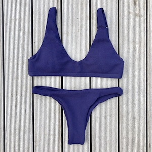 Bikini♡リブタンクビキニ ネイビー