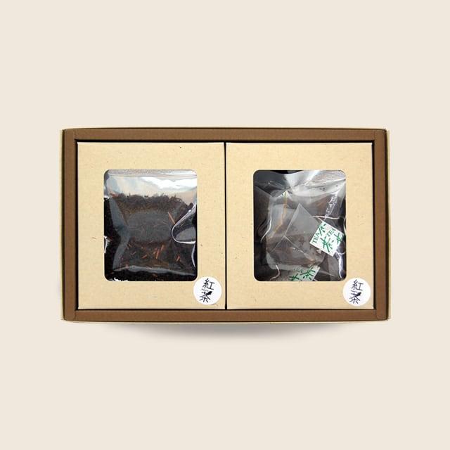 紅茶ギフト(紅茶リーフ10g入×2袋) (紅茶ティーバッグ2g×5個入×2袋)