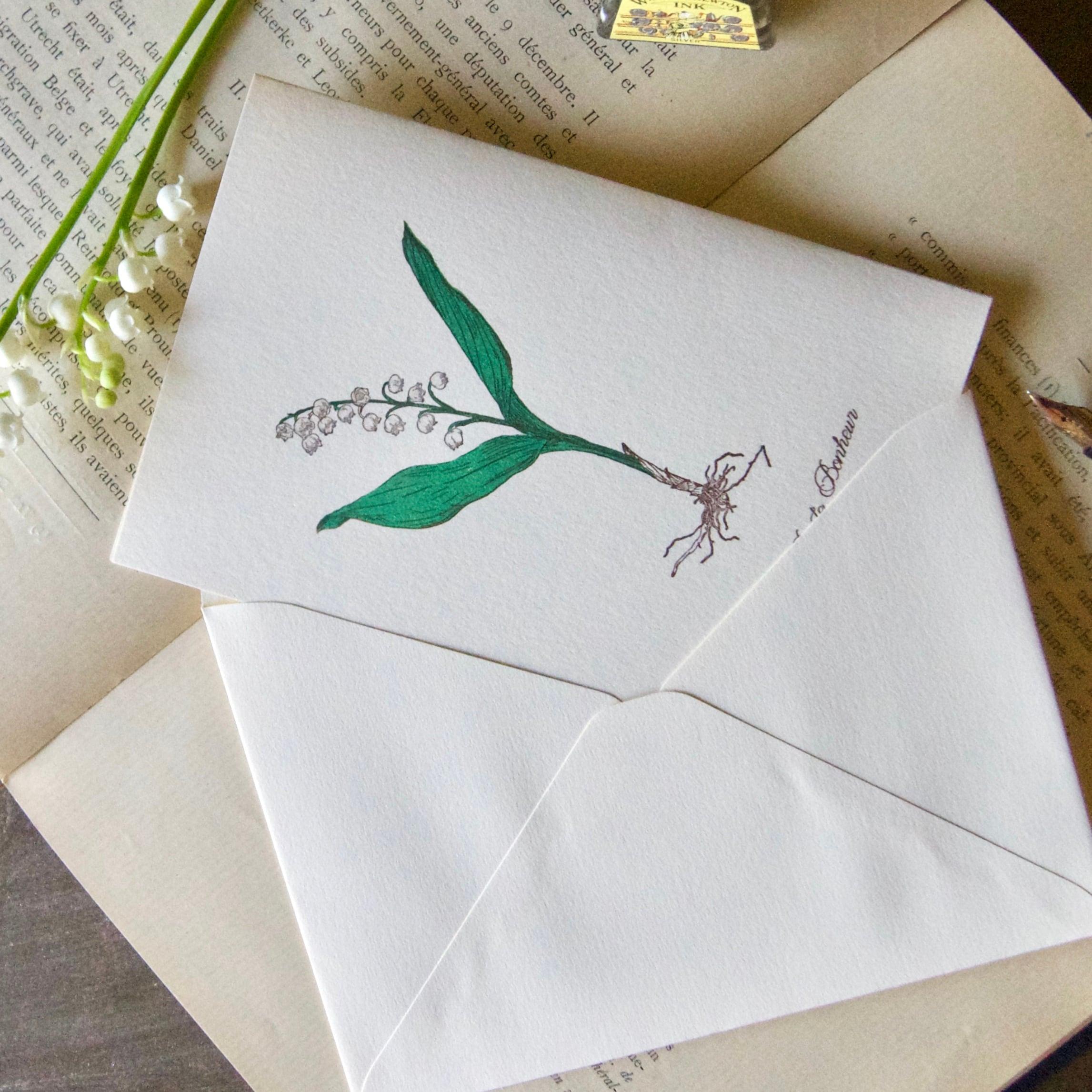 【カード 大】スズラン / カード1枚+封筒1枚/活版印刷
